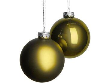 Lot de boules en verre vertes 4 pièces D10cm - alinea