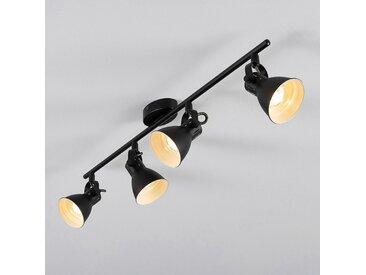 Barre 4 spots LED L77xH6,50cm - noir - alinea