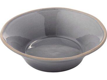 Lot de 6 assiette creuse en faïence gris restanque d16cm (prix unitaire : 4.5 euros) - alinea