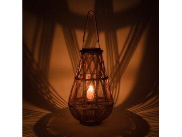 Lanterne en bambou tressé H56 cm - alinea