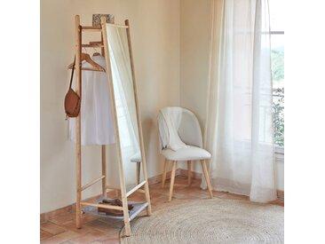 Miroir sur pied en frêne et feutrine Gris clair - H164 cm - alinea