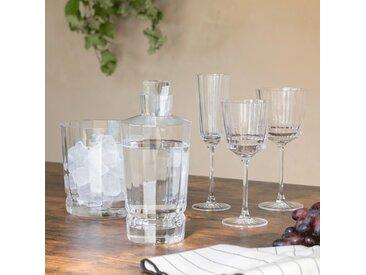 Lot de 6 flûte à champagne en cristallin 17cl (prix unitaire : 8.0 euros) - alinea