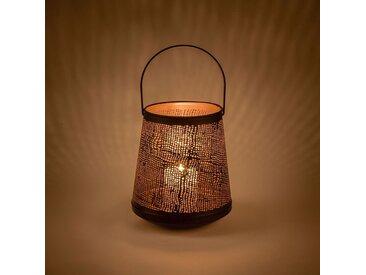 Lanterne en métal noir D21xH23cm - alinea