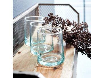 Lot de 6 verres transparent en verre recyclé 25cl (prix unitaire : 3.0 euros) - alinea