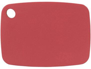 Planche à découper bi-matière en bambou rouge 25x18cm - alinea