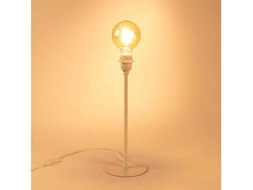 Pied de lampe en métal blanc H41cm - alinea