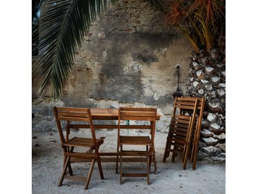 Table de balcon extensible pliante en acacia (6 à 8 places) - alinea