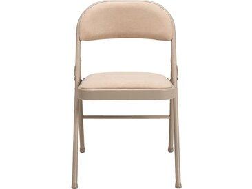 Lot de 2 chaise pliante en métal et tissu beige roucas (prix unitaire : 25.0 euros) - alinea