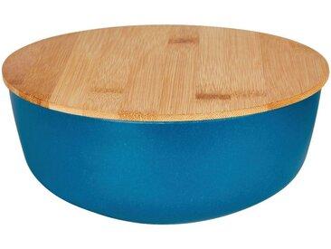 Saladier en fibre de bambou bleu D20,5cm - alinea