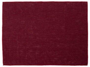 Lot de 2 sets de table en lin et coton rouge sumac 36x48cm (prix unitaire : 6.0 euros) - alinea