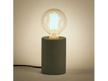 Lampe à poser en béton vert cèdre H12,5xD9cm Alinéa