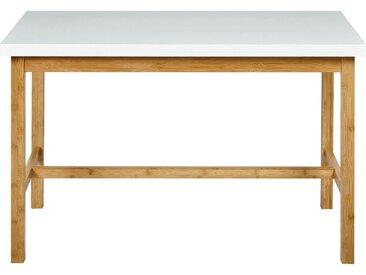 Table haute rectangulaire blanche - L120cm - alinea