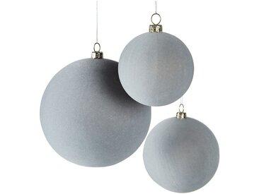 Lot de 9 boules plastique bleu (plusieurs tailles) - alinea