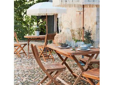 Table de jardin pliante en acacia huilé (2 à 4 places) - alinea