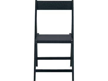 Lot de 2 chaise pliante en bois plaqué noir calabrun (prix unitaire : 35.0 euros) - alinea