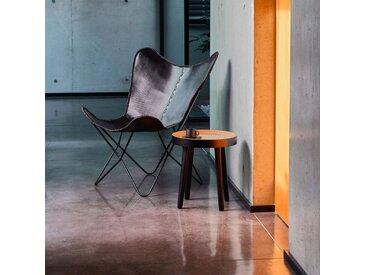 Housse de fauteuil butterfly en cuir noir - alinea
