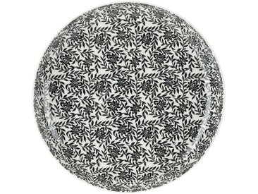 Lot de 4 assiette plate en porcelaine à motifs jasmin - beige nèfle d26,8cm (prix unitaire : 6.0 euros) - alinea