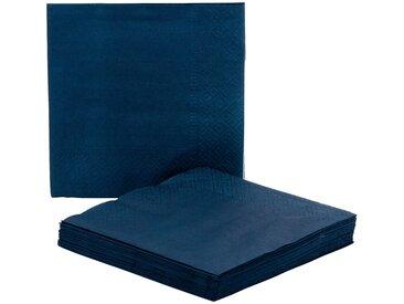 Lot de 20 serviettes en papier bleu figuerolle 33x33cm - alinea