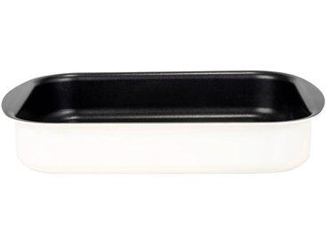 Plat à four rectangulaire en aluminium blanc nougat 20x25cm - alinea