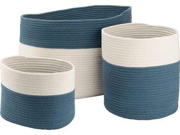 Panier De Rangement Bicolore - Bleu L55xl30xh35cm - alinea