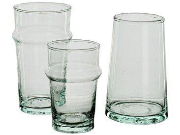 Lot de 6 verre à café transparent en verre recyclé 15cl (prix unitaire : 2.0 euros) - alinea