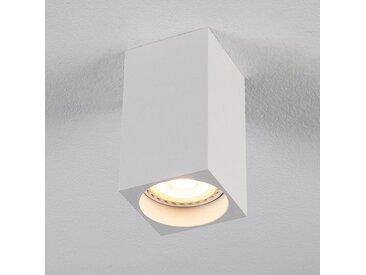 Spot LED fixe carrée en aluminium H10xD5,5cm - blanc - alinea