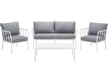 Salon de jardin en aluminium blanc (4 places) - alinea