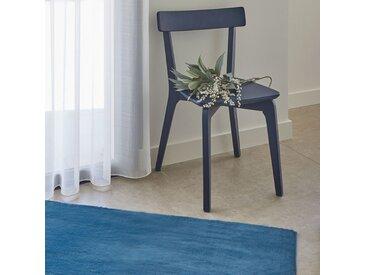 Tapis imitation fourrure bleu figuerolles 60x110cm - alinea