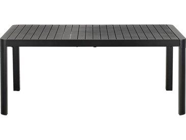 Table de jardin extensible en aluminium noir (8 à 10 places) - alinea
