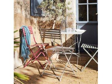 Chaise de jardin pliante taupe en acier - alinea