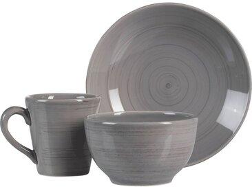 Lot de 6 assiette creuse en faïence gris clair d21cm (prix unitaire : 4.5 euros) - alinea