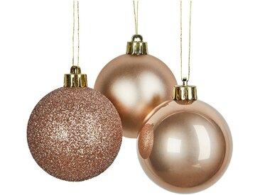 Lot de 10 boules de Noël en verre beige D6cm - alinea
