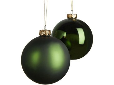 Lot de 4 boules en verre vert D10cm - alinea