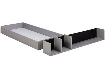 Tiroir et niche 160cm - gris - alinea