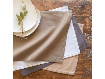 Lot de 2 sets de table en coton blanc 30x45cm (prix unitaire : 2.0 euros) - alinea