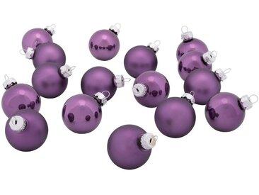 16 mini boules de Noël en verre violet D3,5cm - alinea