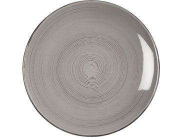 Lot de 6 assiette à dessert en faïence gris clair effet patiné d20.5cm (prix unitaire : 4.5 euros) - alinea