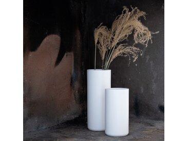 Vase en céramique blanc ventoux D12xH30cm Alinéa