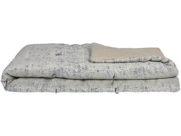 Édredon en polyester, lin et coton gris 100x180cm - alinea