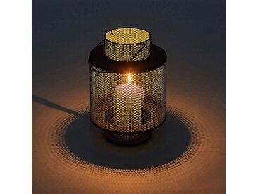 Lanterne en métal - vert - H22cm - alinea