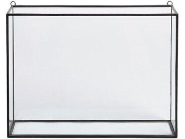 Vitrine Murale En Verre Et Métal - Noir - alinea