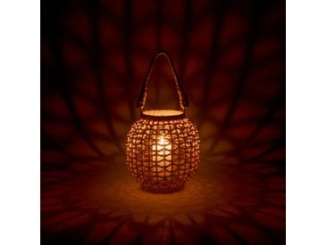 Lanterne en rotin H24cm - alinea