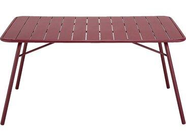 Table De Jardin Pliante En Acier - Rouge Sumac (4 À 6 Places) - alinea