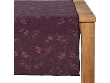 Lot de 2 chemin de table en lin et coton violet 50x150cm (prix unitaire : 15.0 euros) - alinea