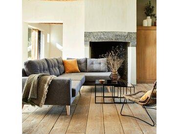Canapé d'angle fixe droit en tissu gris - alinea