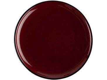 Lot de 6 assiettes plate en faïence rouge sumac d27cm (prix unitaire : 5.0 euros) - alinea