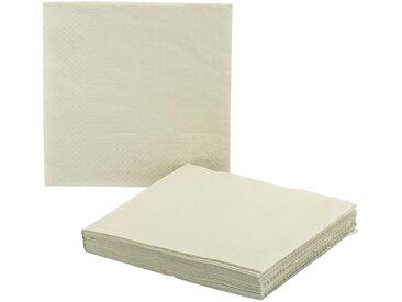 Lot de 20 serviettes en papier beige roucas 33x33cm - alinea