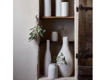Vase en céramique blanc ventoux D16xH24cm Alinéa