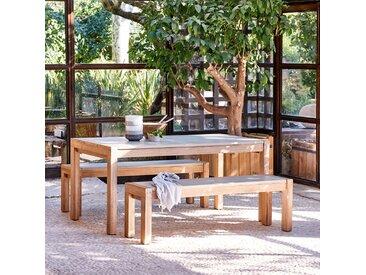 Table et bancs de jardin en acacia massif - alinea