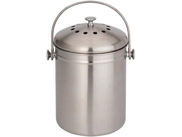 Poubelle à compost en acier - gris 4,5L - alinea
